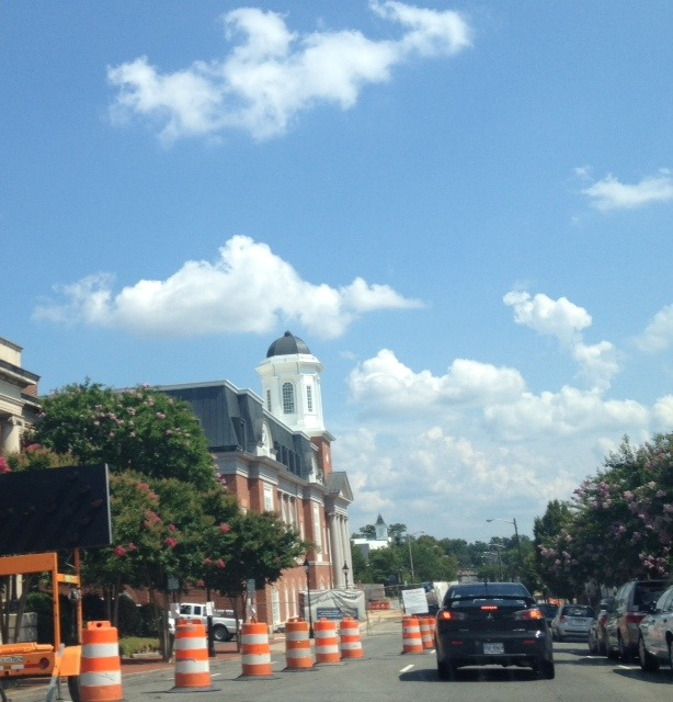 Construction at the New Court house in Fredericksburg.JPG