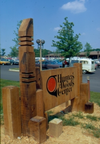 Sign for Hunters Woods Village Center