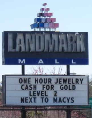 Landmark Mall sign