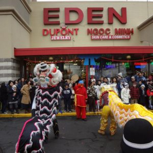 Lion Dance in Eden Center