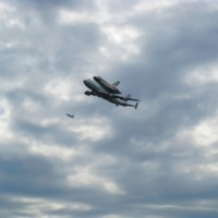 The Shuttle Discovery at Dulles