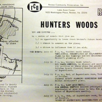 Hunters Woods planning bulletin