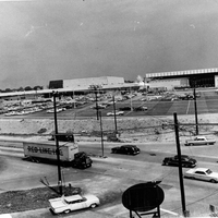 Late stage of construction of Landmark Center
